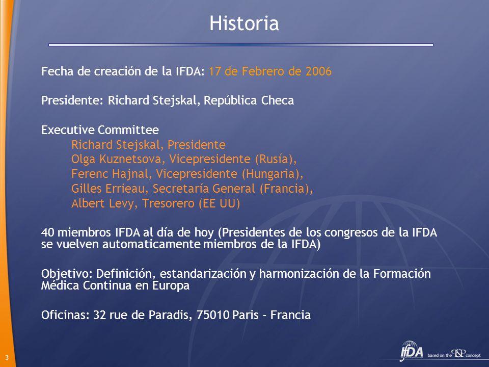 3 Historia Fecha de creación de la IFDA: 17 de Febrero de 2006 Presidente: Richard Stejskal, República Checa Executive Committee Richard Stejskal, Pre