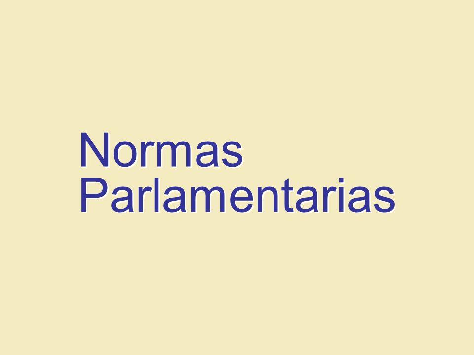Pr. Alvaro Niño Misión Centro Occidental, Departamento de Jóvenes Normas Parlamentarias