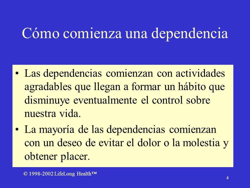 © 1998-2002 LifeLong Health 5 Dependencias Destructivas Controlan nuestra conducta.