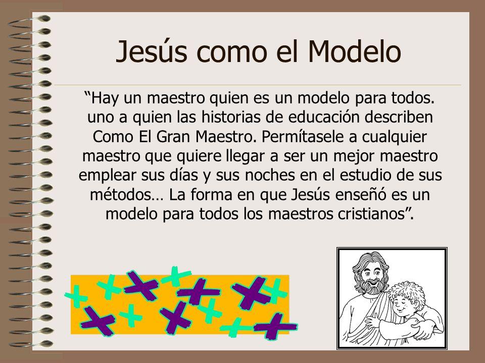 Jesús como el Modelo Hay un maestro quien es un modelo para todos. uno a quien las historias de educación describen Como El Gran Maestro. Permítasele