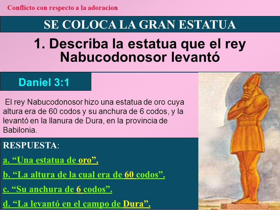 SE COLOCA LA GRAN ESTATUA 2.¿Quiénes fueron invitados a la dedicación de la estatua.