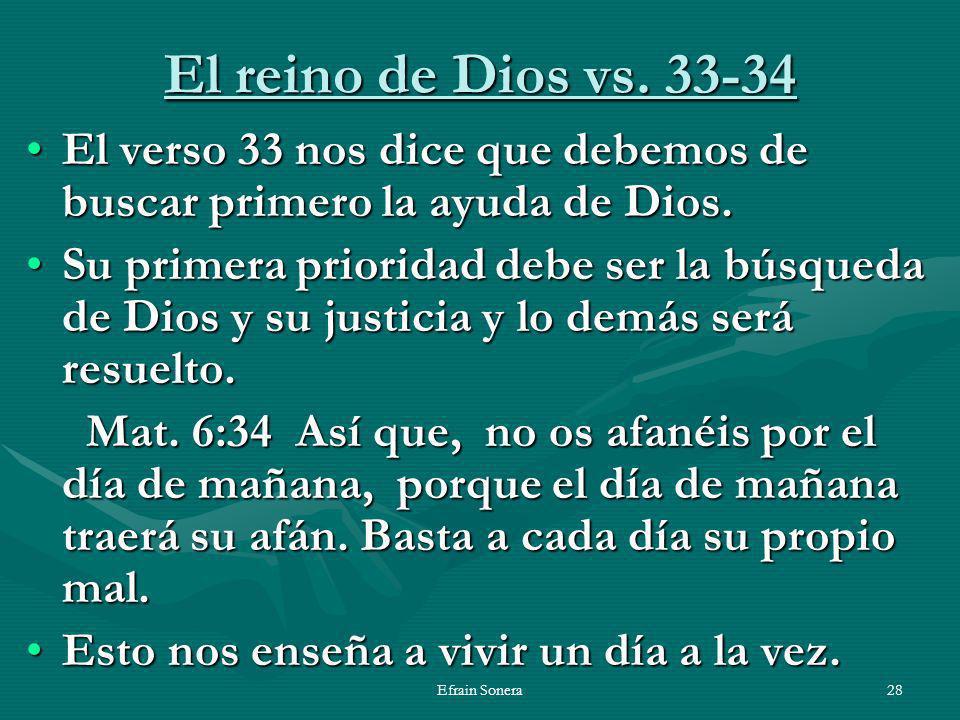 Efrain Sonera28 El reino de Dios vs.