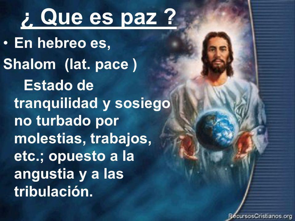 Efrain Sonera16 La paz nos ayuda a vencer Ro.8:35 ¿Quién nos separará del amor de Cristo.