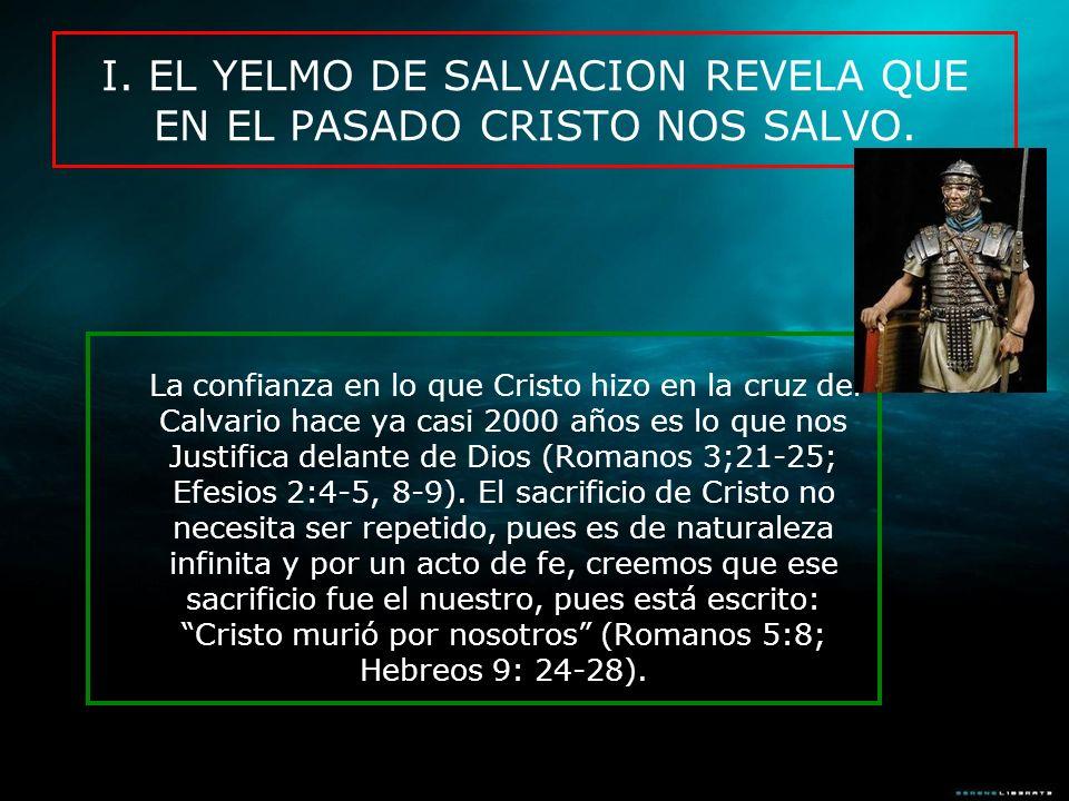 La confianza en lo que Cristo hizo en la cruz del Calvario hace ya casi 2000 años es lo que nos Justifica delante de Dios (Romanos 3;21-25; Efesios 2: