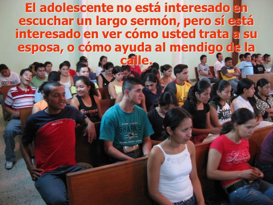 Permita que Jesús se encarne en usted y descubrirá cómo el adolescente lo seguirá