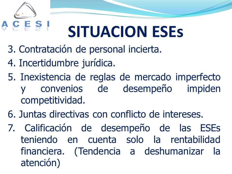 SITUACION ESEs 3. Contratación de personal incierta.