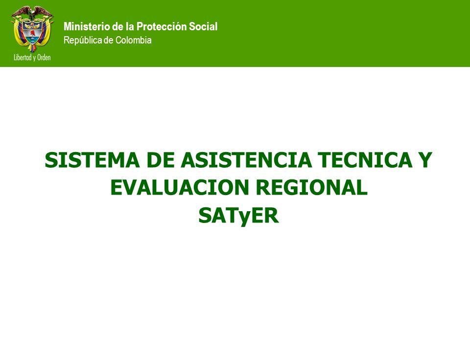 Ministerio de la Protección Social República de Colombia Programa de Gobierno.