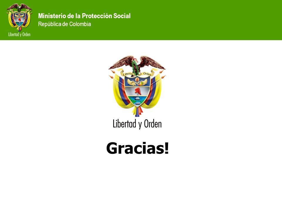 Ministerio de la Protección Social República de Colombia Gracias!