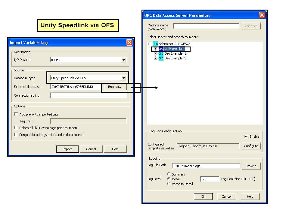 Unity Speedlink via OFS
