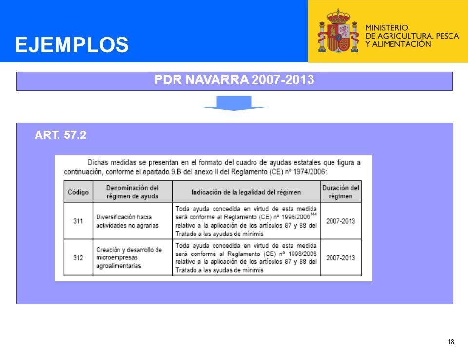 18 EJEMPLOS PDR NAVARRA 2007-2013 ART. 57.2
