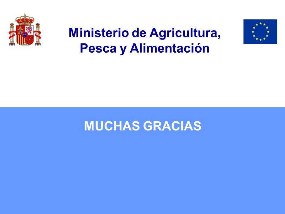 MUCHAS GRACIAS Ministerio de Agricultura, Pesca y Alimentación
