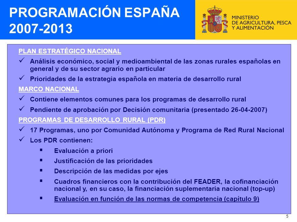 5 PLAN ESTRATÉGICO NACIONAL Análisis económico, social y medioambiental de las zonas rurales españolas en general y de su sector agrario en particular