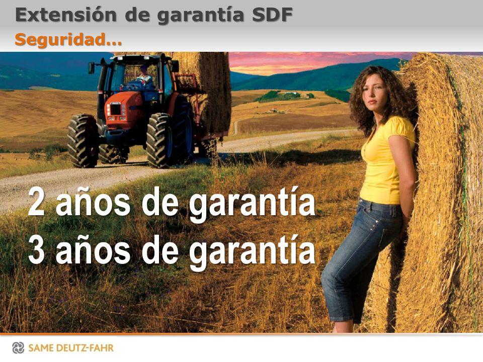 Extensión de garantía SDF Seguridad… 2 años de garantía 3 años de garantía