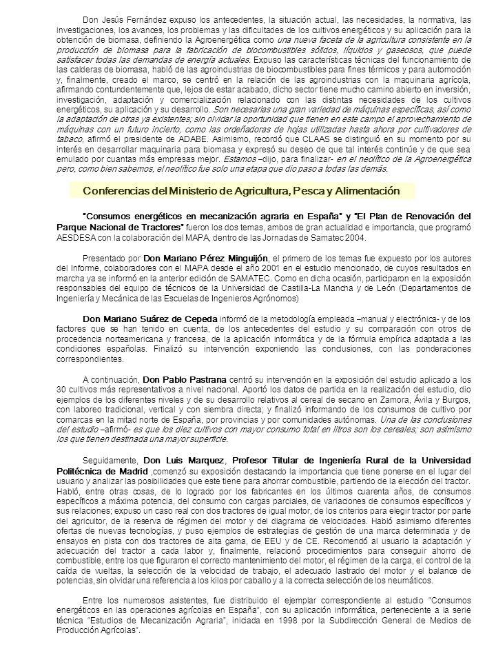 Don Jesús Fernández expuso los antecedentes, la situación actual, las necesidades, la normativa, las investigaciones, los avances, los problemas y las