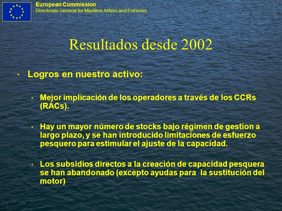 European Commission Directorate General for Maritime Affairs and Fisheries Reforma, por qué.