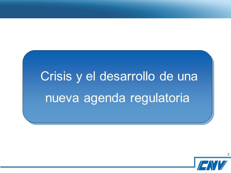 2 2 Crisis y el desarrollo de una nueva agenda regulatoria Crisis y el desarrollo de una nueva agenda regulatoria