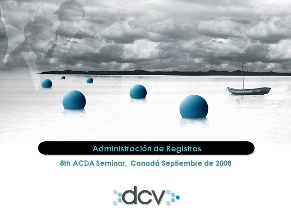 2 AGENDA Acerca de DCV Registros Servicios DCV y DCV Registros Ventajas y Beneficios Seguridad Calidad de Servicio Evolución Mercado 1 2 3 4 5 6 7 8
