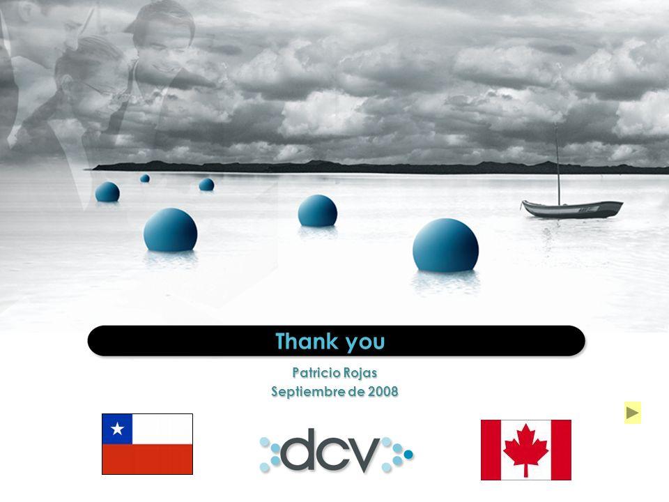 25 Thank you Patricio Rojas Septiembre de 2008