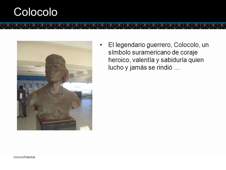 © DTCC Colocolo El legendario guerrero, Colocolo, un símbolo suramericano de coraje heroico, valentía y sabiduría quien lucho y jamás se rindió … 2 nonconfidential