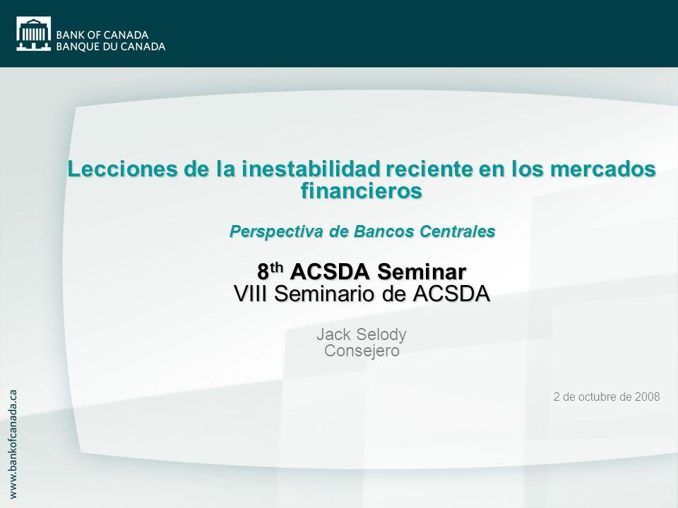 2 Resumen de la presentación Lecciones aprendidas Acciones realizadas Principios de intervención en los mercados financieros Herramientas Cuestiones asociadas con la expansión de la lista de colaterales