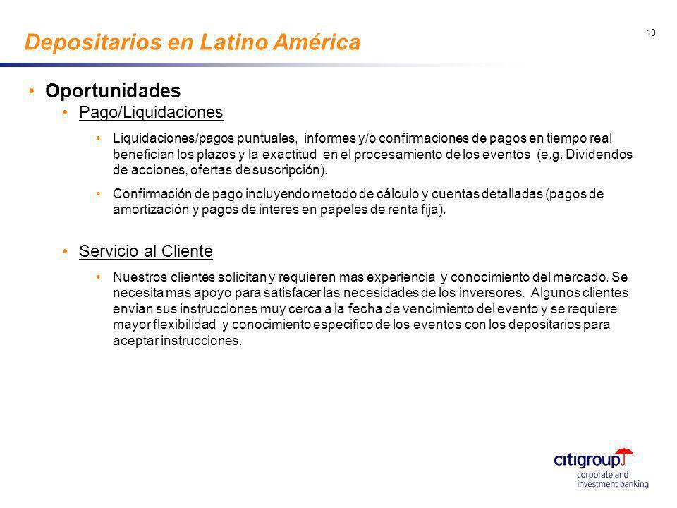go to View, Header and Footer to set date 10 Depositarios en Latino América Oportunidades Pago/Liquidaciones Liquidaciones/pagos puntuales, informes y
