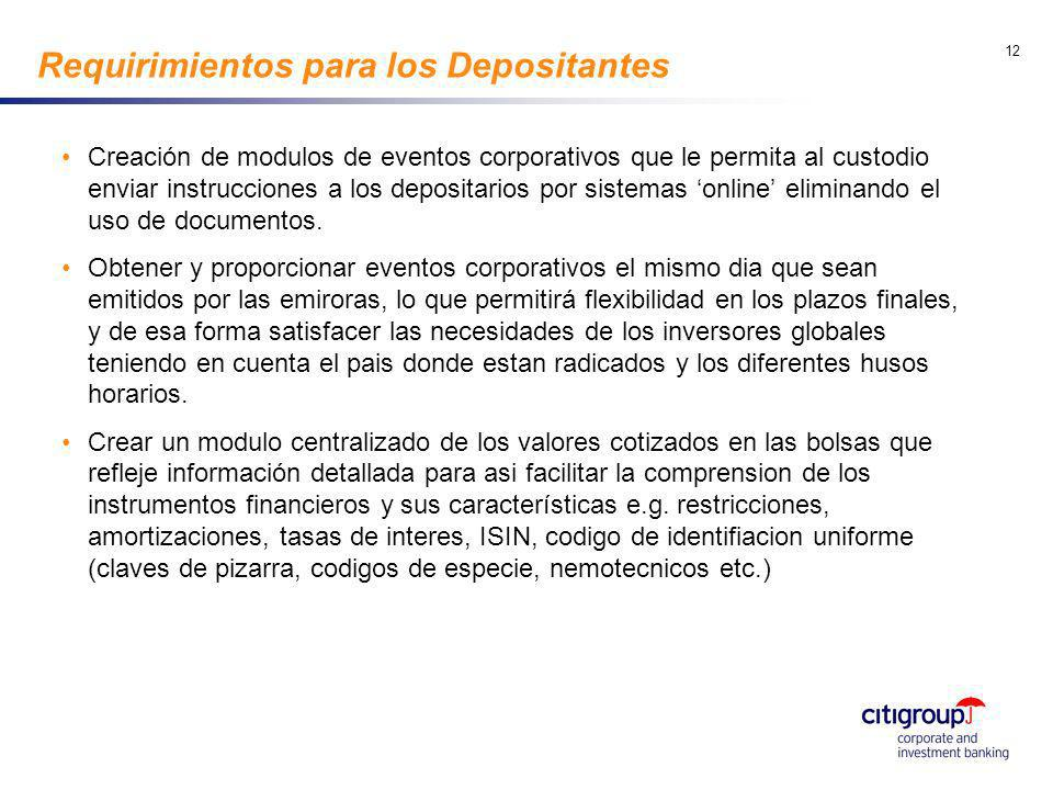 go to View, Header and Footer to set date 12 Requirimientos para los Depositantes Creación de modulos de eventos corporativos que le permita al custod