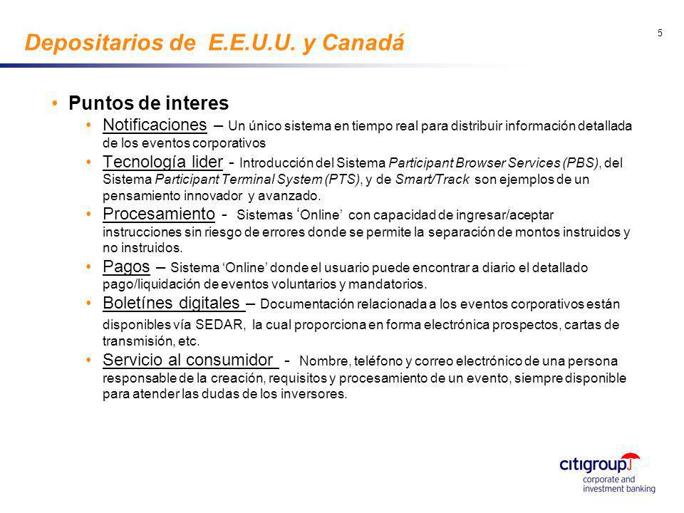 go to View, Header and Footer to set date 5 Depositarios de E.E.U.U. y Canadá Puntos de interes Notificaciones – Un único sistema en tiempo real para