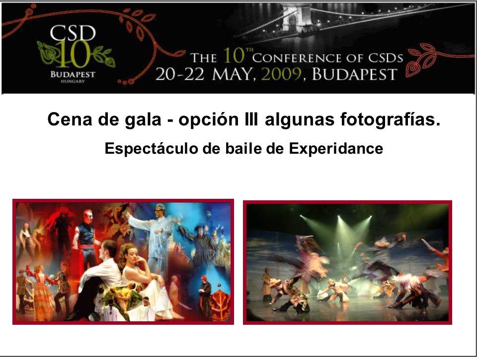 Cena de gala - opción III algunas fotografías. Espectáculo de baile de Experidance