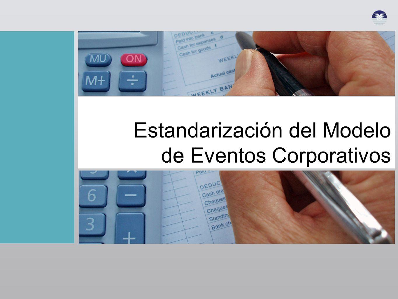 Estandarización del Modelo de Eventos Corporativos