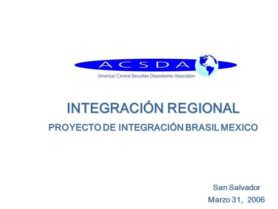 San Salvador Marzo 31, 2006 INTEGRACIÓN REGIONAL PROYECTO DE INTEGRACIÓN BRASIL MEXICO