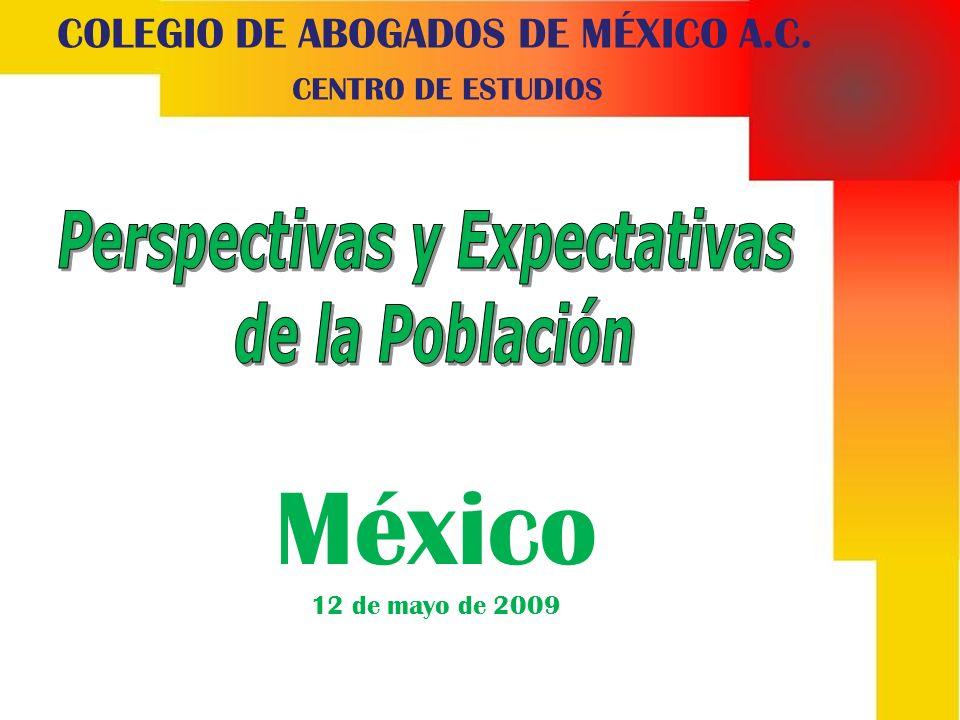 COLEGIO DE ABOGADOS DE MÉXICO A.C. CENTRO DE ESTUDIOS México 12 de mayo de 2009