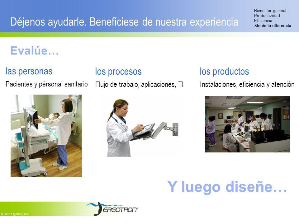 Bienestar general.Productividad. Eficiencia. Siente la diferencia © 2007 Ergotron, Inc.