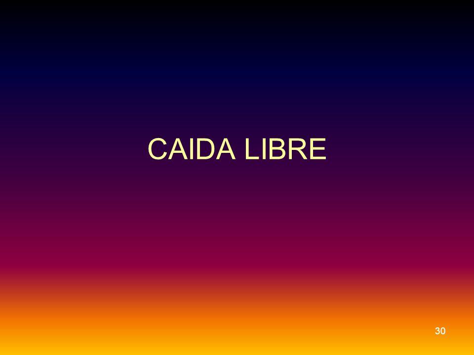 CAIDA LIBRE 30