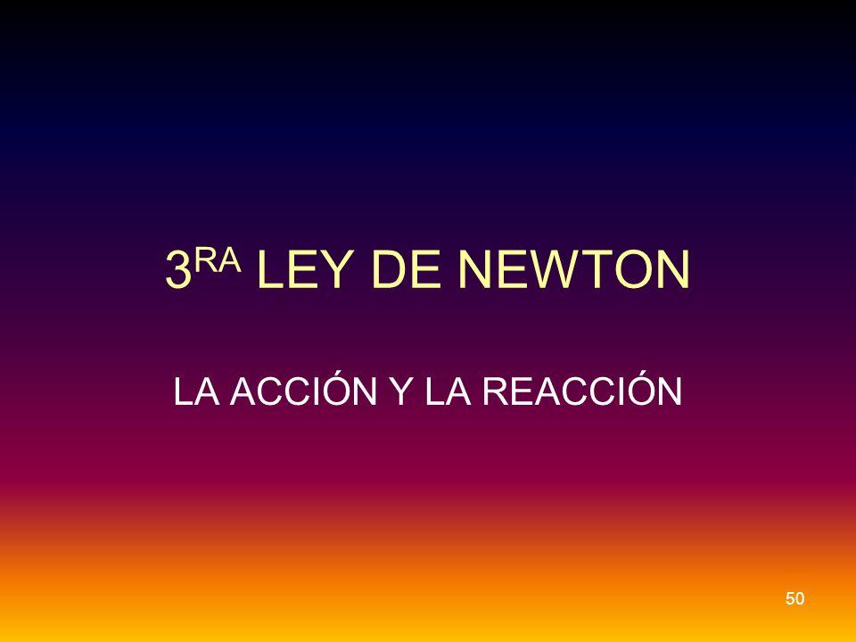3 RA LEY DE NEWTON LA ACCIÓN Y LA REACCIÓN 50
