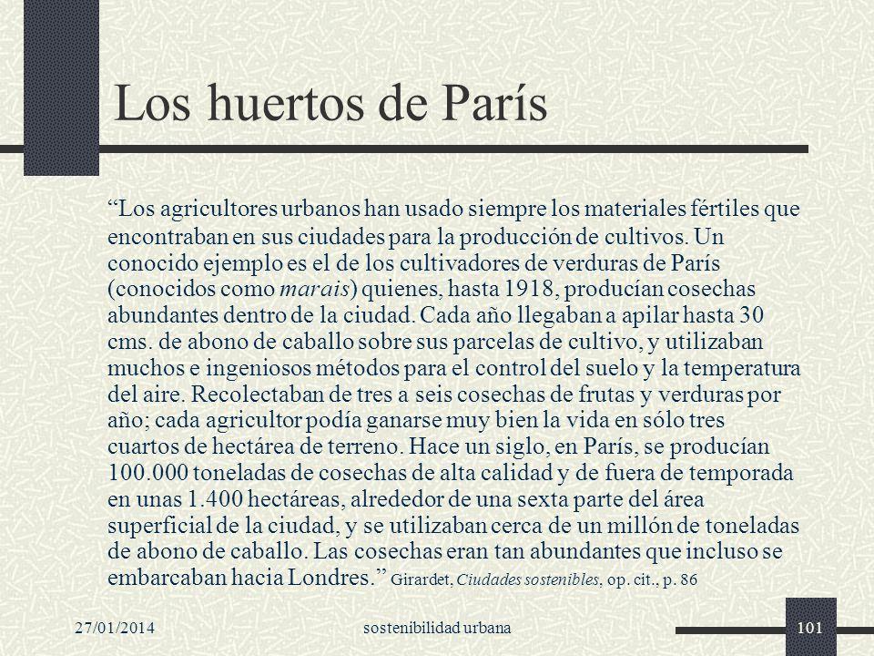 27/01/2014sostenibilidad urbana101 Los huertos de París Los agricultores urbanos han usado siempre los materiales fértiles que encontraban en sus ciud