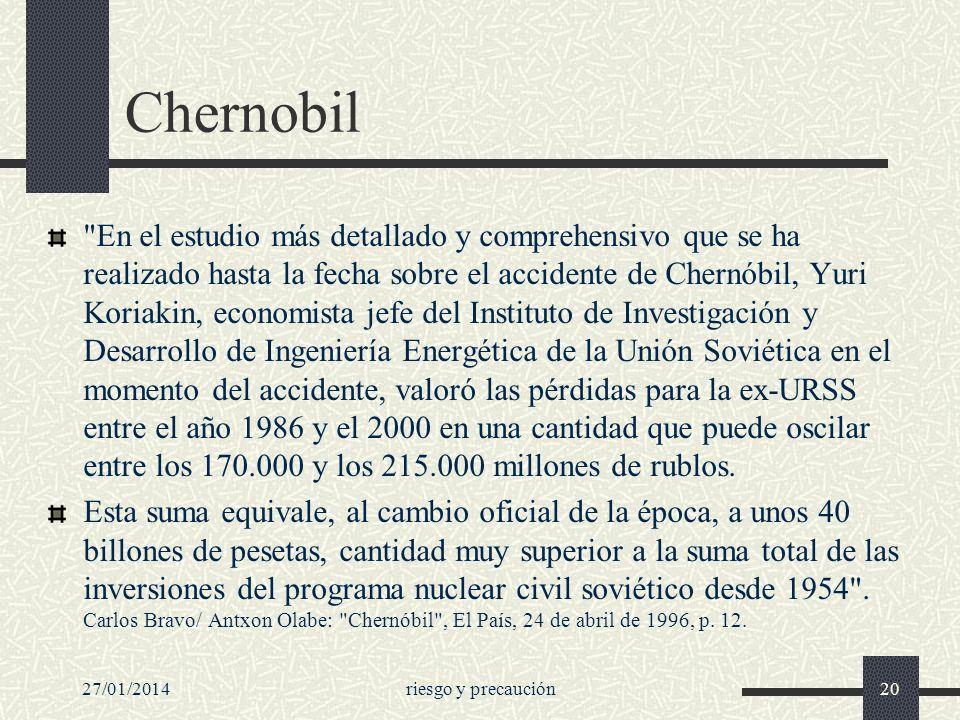 27/01/2014riesgo y precaución20 Chernobil