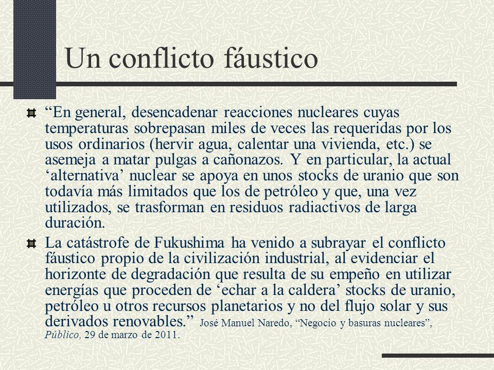 Un conflicto fáustico En general, desencadenar reacciones nucleares cuyas temperaturas sobrepasan miles de veces las requeridas por los usos ordinario