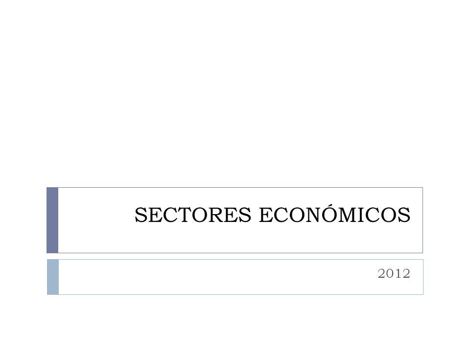 SECTORES ECONÓMICOS 2012