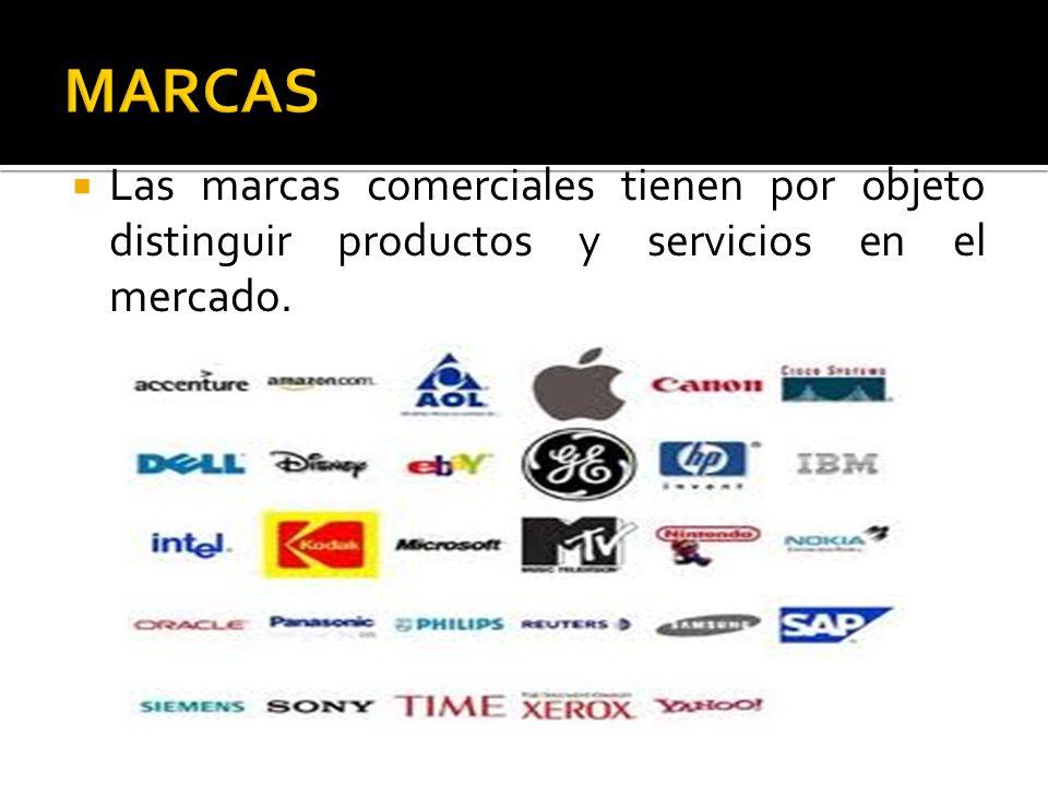 Las marcas comerciales tienen por objeto distinguir productos y servicios en el mercado.