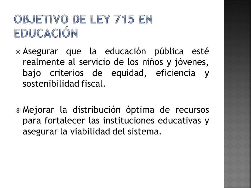 Asegurar que la educación pública esté realmente al servicio de los niños y jóvenes, bajo criterios de equidad, eficiencia y sostenibilidad fiscal. Me