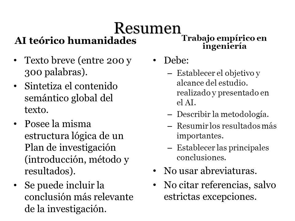 Palabras clave AI teórico humanidades Indican los conceptos principales y delimitan el campo de interés de la investigación.
