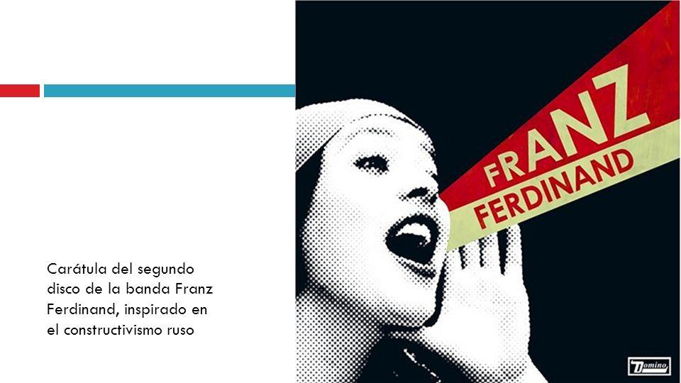 Carátula del segundo disco de la banda Franz Ferdinand, inspirado en el constructivismo ruso