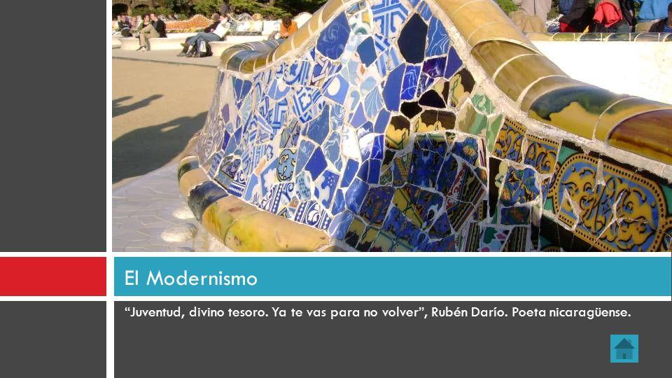 Juventud, divino tesoro. Ya te vas para no volver, Rubén Darío. Poeta nicaragüense. El Modernismo