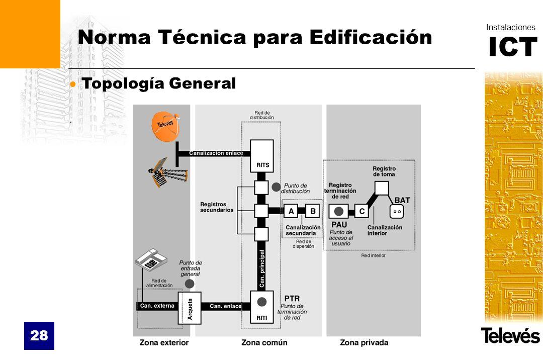 ICT Instalaciones 28 Norma Técnica para Edificación Topología General.