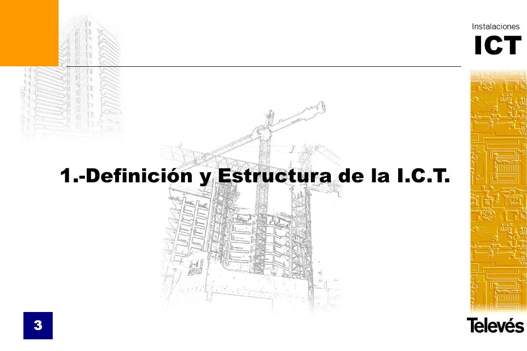 ICT Instalaciones 3 1.-Definición y Estructura de la I.C.T.