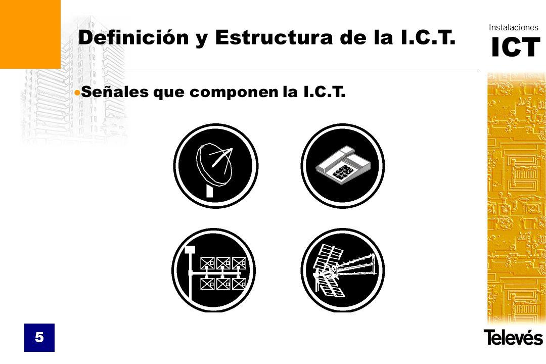 ICT Instalaciones 5 Señales que componen la I.C.T. Definición y Estructura de la I.C.T.