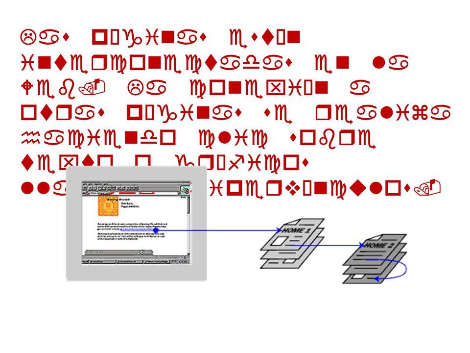 Las páginas están interconectadas en la Web. La conexión a otras páginas se realiza haciendo clic sobre texto o gráficos llamados hipervínculos.
