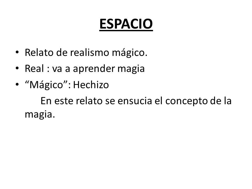 ESPACIO Relato de realismo mágico.