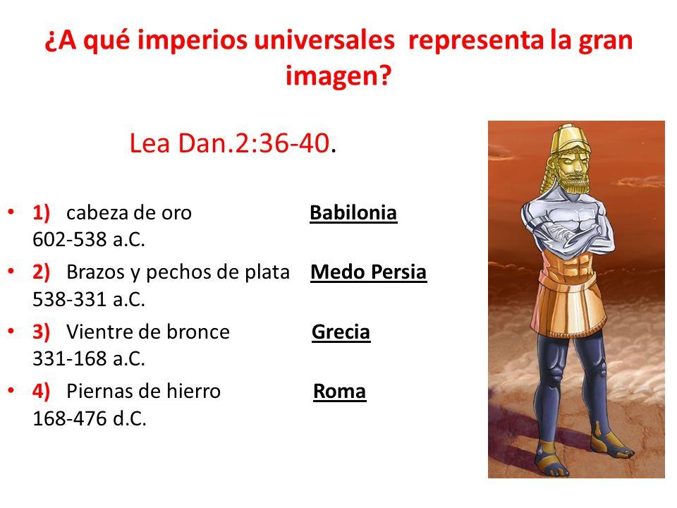 ¿Qué sucederá con el último imperio universal.Dan.2:41,42.