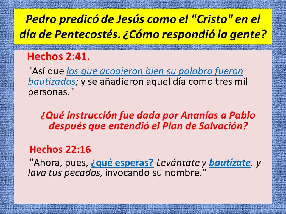 Pedro predicó de Jesús como el